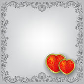 Valentines greeting with red hearts — Stock Vector