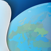 抽象业务背景与地球的地图 — 图库矢量图片