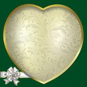του αγίου βαλεντίνου μπλε χαιρετισμό με καρδιά — Διανυσματικό Αρχείο