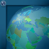 Dark blue background with globe — Stock Vector