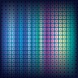 Abstract background with squares and dots — Stock Vector