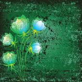 Ilustración floral abstracto — Vector de stock