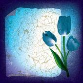 Astratto floreale illustrazione — Vettoriale Stock