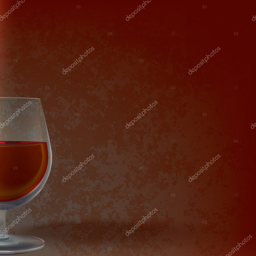 Abstract illustration with wineglass on grunge background — Stock Vector #5281494