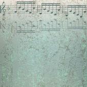 Fondo de música abstracta agrietado — Vector de stock