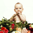 Royalty-Free Stock Photo: Baby and roses