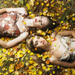 Two romantic girl - Stock fotografie