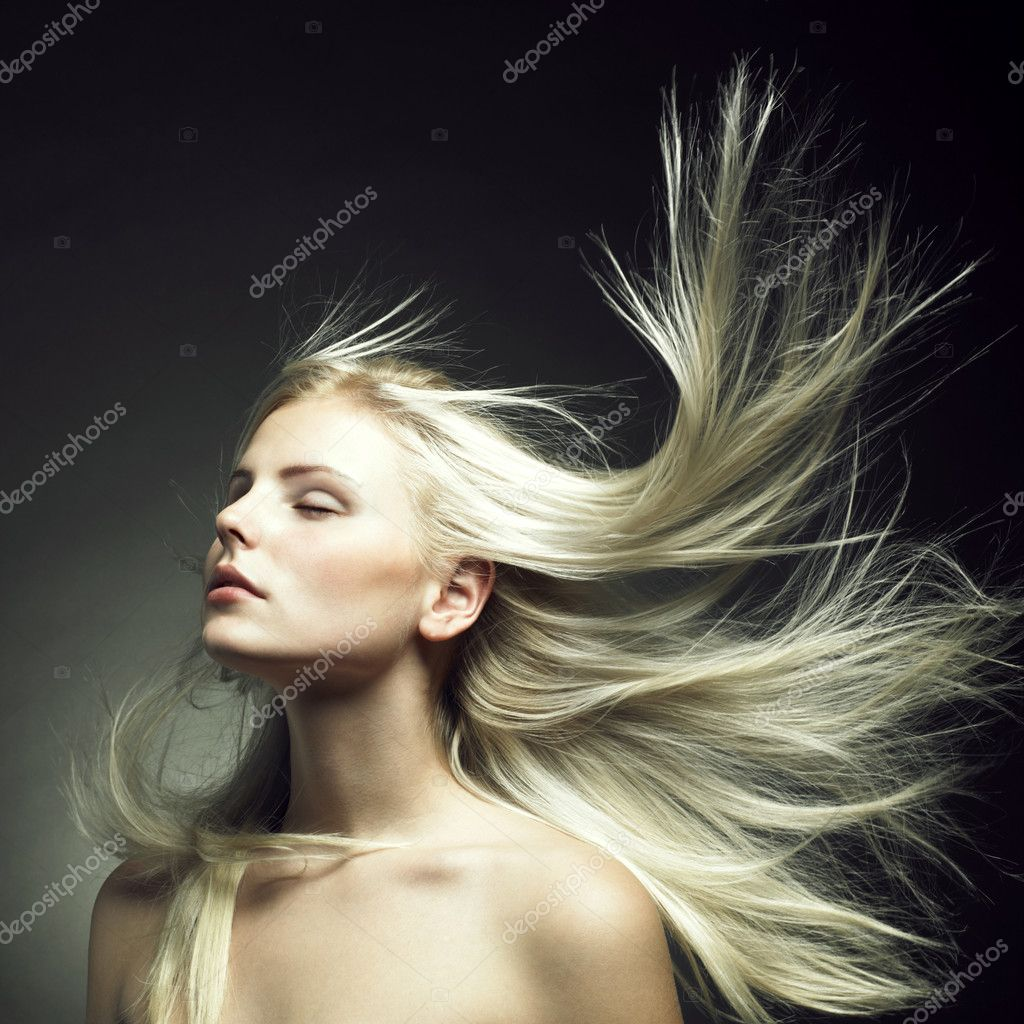 Photo of beautiful woman with magnificent hair — Foto de Stock   #4106641