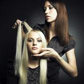 Client et styliste — Photo