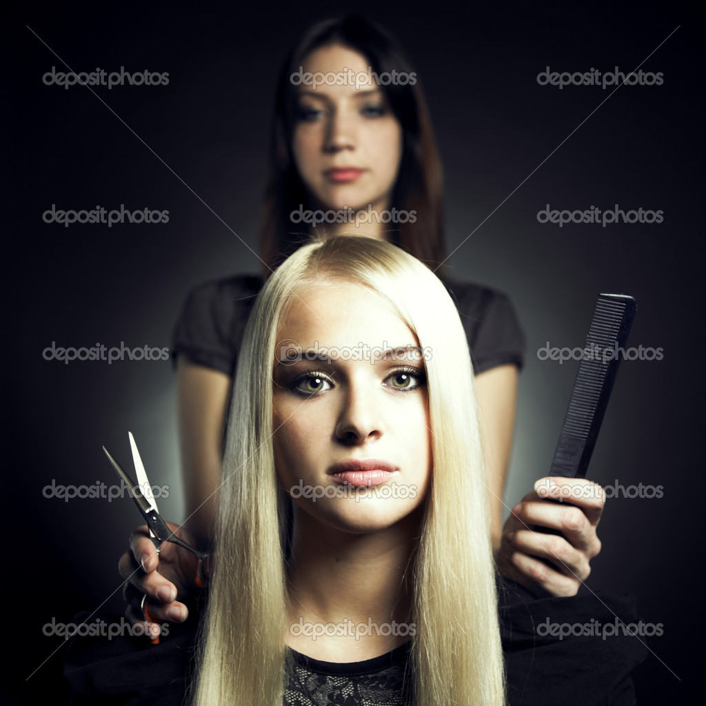Woman in a beauty salon. Conceptual photo — Stock Photo #4137321