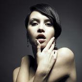 Portrait of beautiful sensual woman — Stock Photo