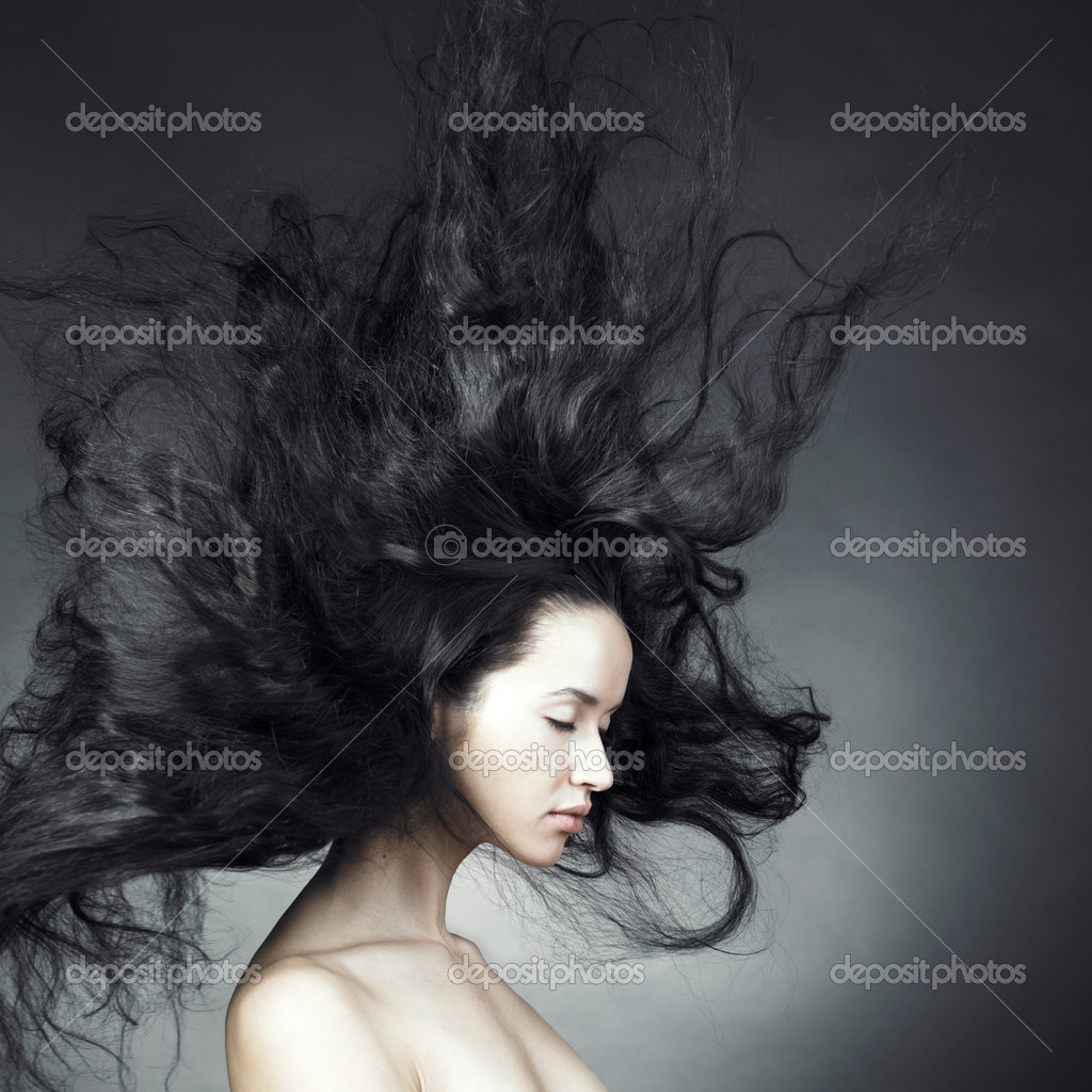 Photo of beautiful woman with magnificent hair — Stock Photo #4452459