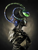 Beautiful alien lady — Stock Photo