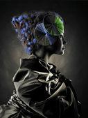 Beautiful alien lady — Stock Photo
