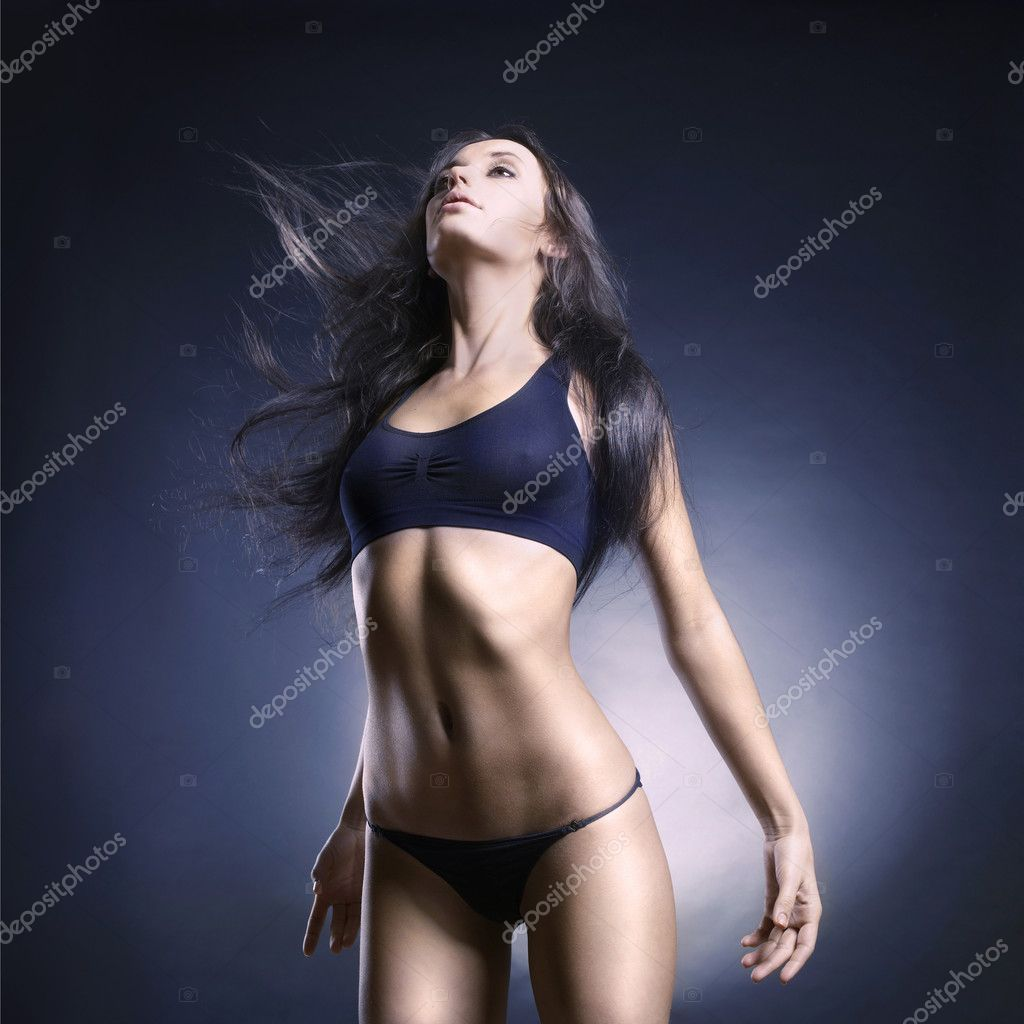 Photo of beautiful woman with magnificent hair  Stock Photo #5342443