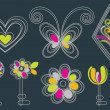 Beautiful key background design in pink, yellow and white — Photo