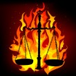 Justice in flames — Stock Vector