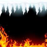 fogo e gelo — Vetorial Stock
