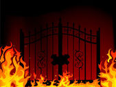 Gate to hell — Stock Vector