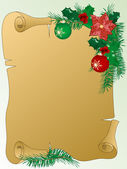 Christmas parchment — Vector de stock