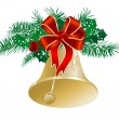 Christmas bell — Stockvectorbeeld