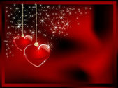 Två glas hjärtan — Stockvektor