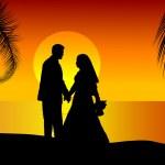 Wedding couple — Stock Vector