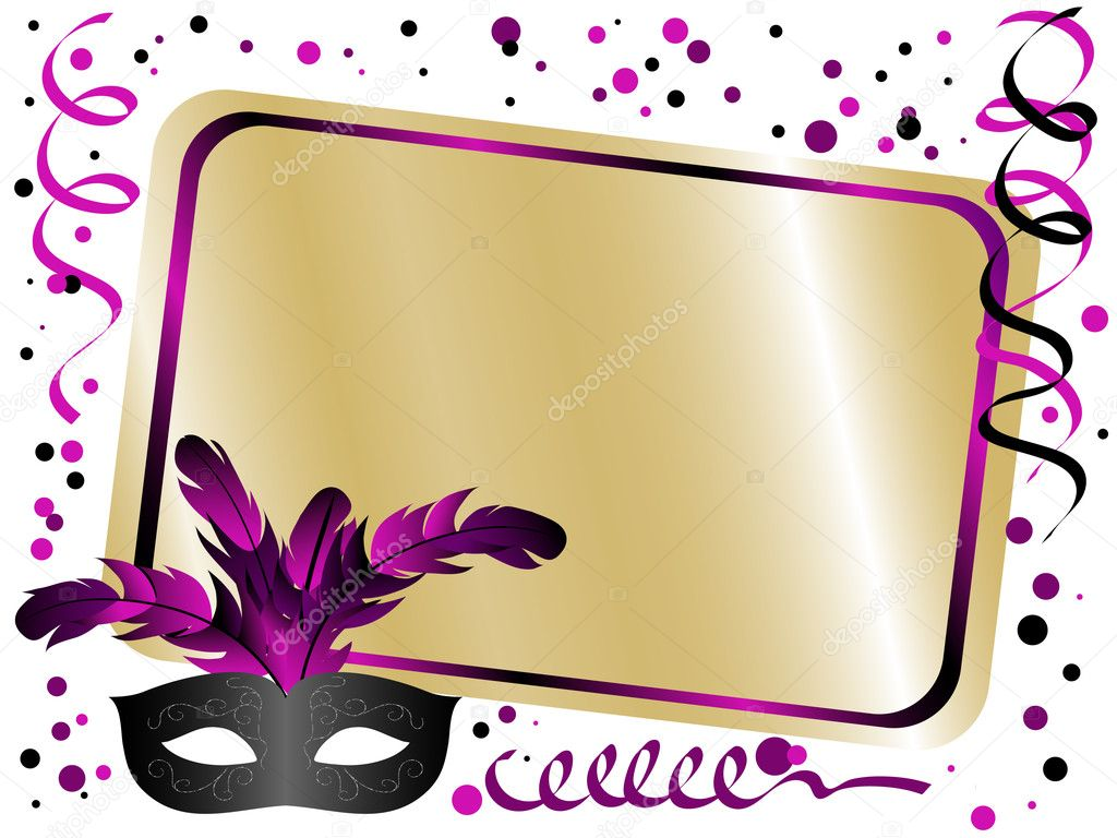 Party background with carnival mask — Stock Vector #5106797
