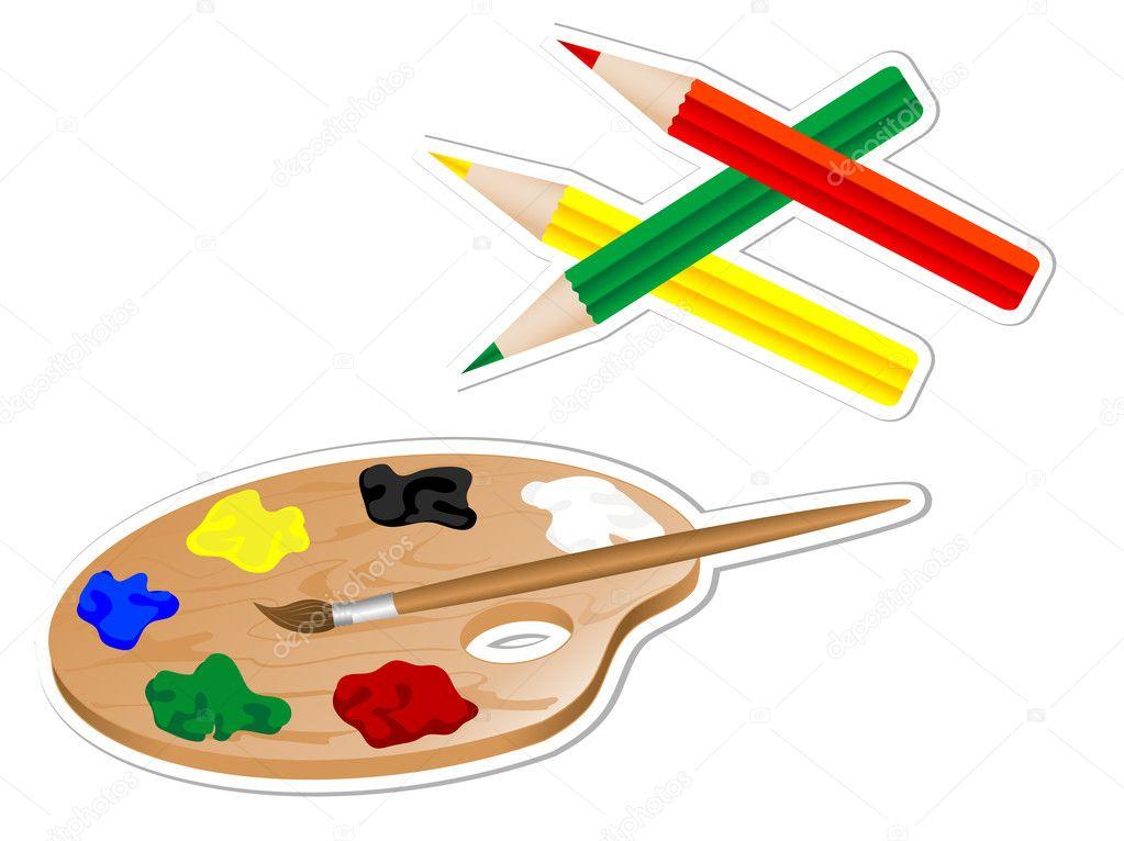 Drawing Tools Stock Vector Sarininka 5115369