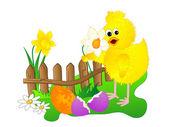 复活节小鸡 — 图库矢量图片