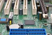 Partial computer mainboard — Stock Photo