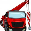 Royalty-Free Stock Vector Image: Crane truck