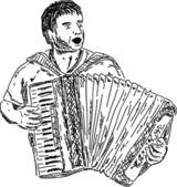 Harmonica — Stock Vector