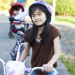 Children on a bike outing — Stock Photo