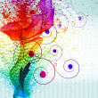Stockvector : Color paint splashes. Gradient vector background