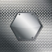 Fluted metal texture. Vector Illustration — Stock Vector