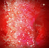 Red mosaic background - vector illustration — Stock Vector