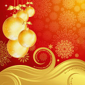 Beautiful Christmas background. Vector. — Stock Vector