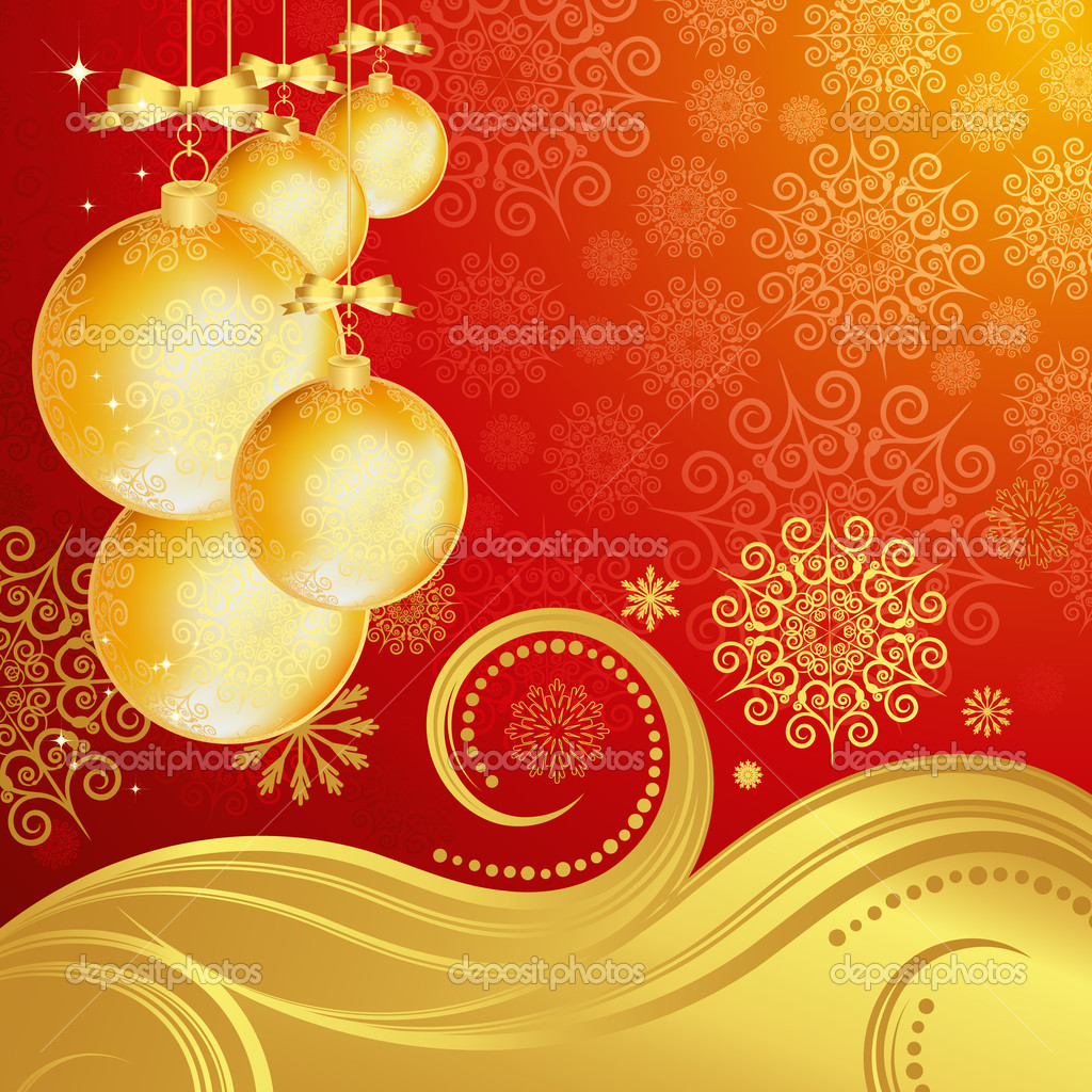 Beautiful Christmas background. Vector.   Stock Vector #4089484