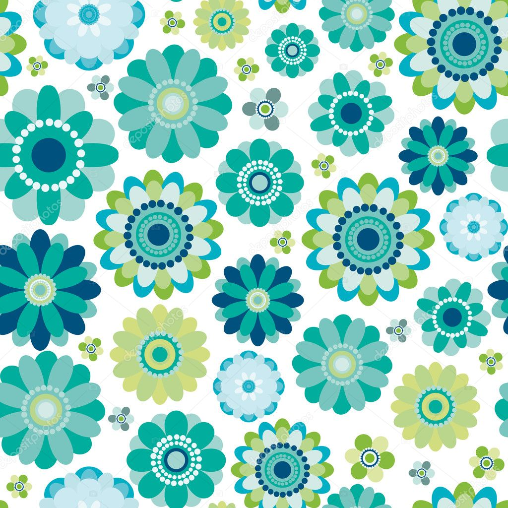 Floral seamless pattern — Stock Vector #4122487