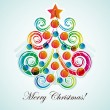Abstract christmas tree on light background. — 图库矢量图片