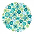 Green design - Flower circle. - Stock Vector