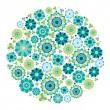 Green design - Flower circle. — Stock Vector