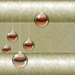 Christmas background with transparent balls — Stockvektor