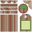 Royalty-Free Stock Vector Image: Seamless Christmas pattern and other elements