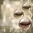 Christmas background with transparent balls — Imagen vectorial