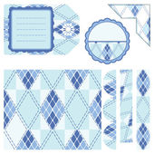 Design elements for scrapbook - blue — Stock Vector