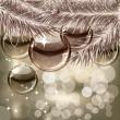 クリスマスの背景の透明ボール — ストックベクタ