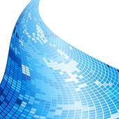Mozaika niebieski streszczenie tło — Wektor stockowy