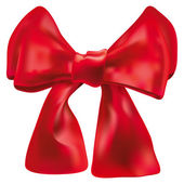 Vector red double bow over white — Stock Vector